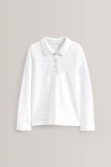 2 Pack Long Sleeve Poloshirts (3-16yrs)