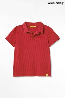 White Stuff Red Kids Peter Polo T-Shirt