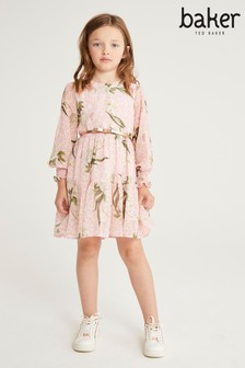 Baker by Ted Baker Tiered Floral Dress