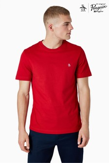Original Penguin® Red Short Sleeve Pin Point Embroidered Logo T-Shirt