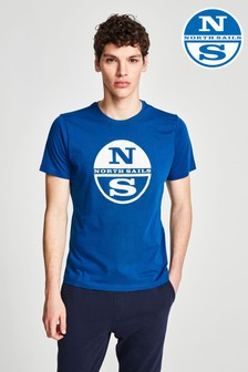 North Sails T-Shirt mit Grafik, Blau
