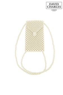 David Charles Ivory Faux Pearl Crossbody Bag
