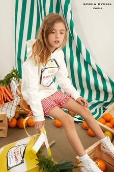 מכנסי משבצות קצרים אדומים של Sonia Rykiel Paris