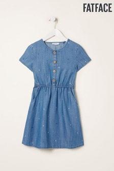 FatFace Chambray Kara Spot Dress