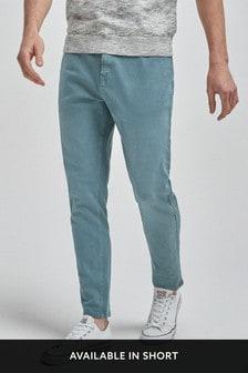 Крашеные джинсы из эластичного денима