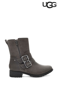 UGG Grey Wilde Double Buckle Biker Boots