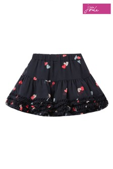 Joules Blue Lillian Heart Printed Tutu Skirt