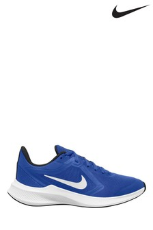Nike Run Blue/White Downshifter 10 Youth Trainers