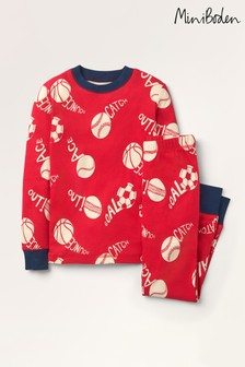 Mini Boden Red Glow-In-The-Dark Long Pyjamas