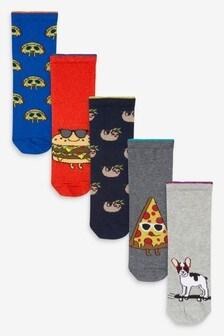 Набор из 5 пар носков с высоким содержанием хлопка (Подростки)
