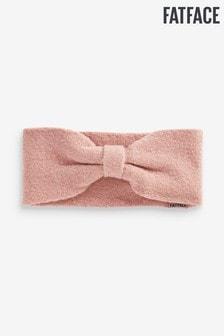FatFace Pink Plain Knitted Headband