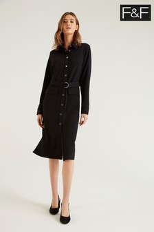 F&F Black Shirt Dress