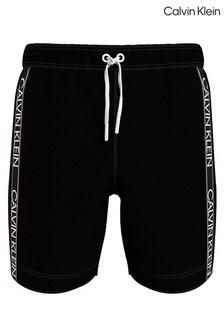 Calvin Klein Black Core Logo Drawstring Swim Shorts