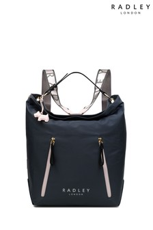 Radley Grey Crofters Way Large Zip Top Hobo Bag