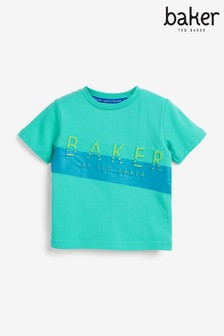 Baker by Ted Baker Turquoise Embossed T-Shirt