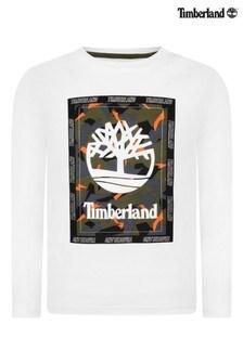 Timberland® White Graphic Logo T-Shirt