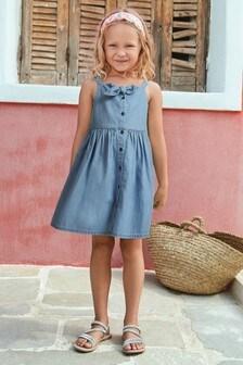 Letné šaty s uzlom (3 – 16 rok.)