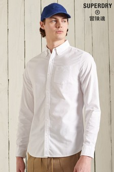 Superdry wit Oxford overhemd