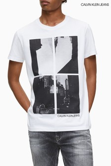 Calvin Klein Jeans White Upscaled Photo Print T-Shirt