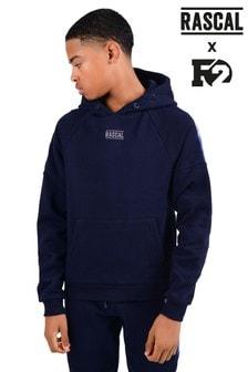 Sudadera con capucha azul con detalle de cintas de efecto degradado de Rascal F2