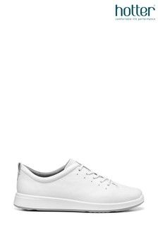 Hotter White Gentle Lace up Shoes