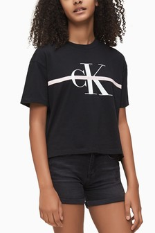 Calvin Klein Black Monogram Stripe T-Shirt