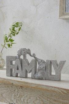 Elephant Family Word Block