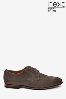 Туфли из микрозамши на шнурках