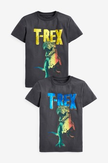 Двусторонняя футболка с пайетками T-Rex (3-16 лет)