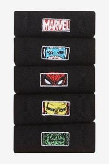 Pięć par skarpet z haftem Marvel®