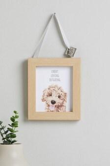 Závesná dekorácia so psom