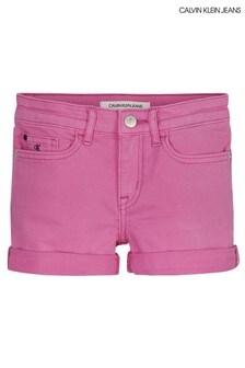 Calvin Klein Jeans Slim Denim-Shorts, Pink