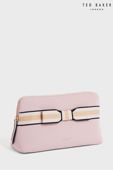 Ted Baker Pink Indahh Branded Webbing Neoprene Wash Bag