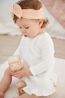 שמלה לבנה מבד ז'קארד של Ted Baker דגםBaker