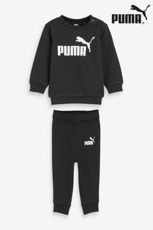 Puma Mini Infant Crew And Joggers Tracksuit Set