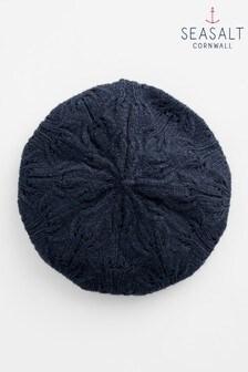כובע ברט שלSeasaltדגםDraycott בכחול כהה