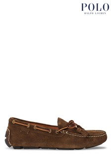 Polo Ralph Lauren Brown Anders Suede Loafers Shoes