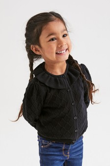 Pointelle Collar Cardigan (3mths-7yrs)