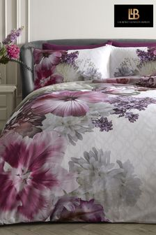 Laurence Llewelyn-Bowen Pink Mayfair Lady Large Floral Duvet Cover and Pillowcase Set