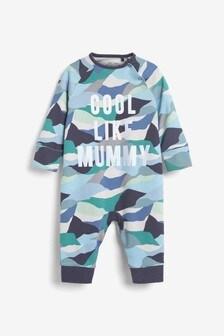 """Пижамы без носочков из органического хлопка GOTS с надписью """"Cool Like Mummy"""" (0 мес. - 3 лет)"""