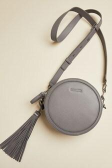 Ted Baker Grey Errinn Circular Tassel Detail Cross Body Bag
