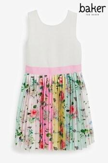 Baker by Ted Baker Kleid mit plissiertem Rock, Mehrfarbig