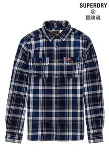 Superdry Navy Check Lumberjack Shirt