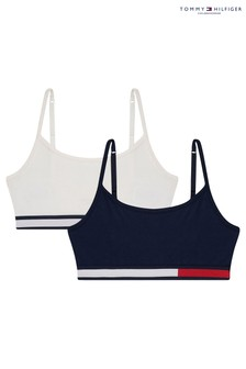 Tommy Hilfiger Blue Colourblock Strappy Bralettes Two Pack