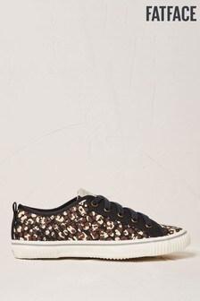 FatFace Organic Sneaker zum Schnüren im Leopardenmuster, braun