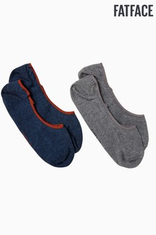 FatFace Grey Plain Footsies Two Pack