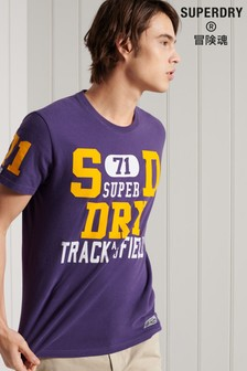 Superdry Standard Weight Track & Field Graphic T-Shirt