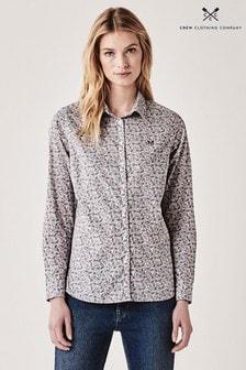 Crew Clothing Lulworth Popelin-Shirt, weiß