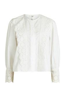 Object White Lace Collar Esta Shirt