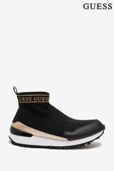 حذاء رياضي جورب منسوج أسود Salzia من Guess